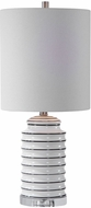 Uttermost 28338-1 Rayas Gloss White / Bold Black / Brushed Nickel Table Lamp Lighting