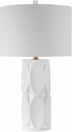Uttermost 28342-1 Sinclair Glossy White / Brushed Nickel Table Lamp