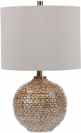 Uttermost 28343-1 Lagos Rust Brown / Aged Taupe / Brushed Brass Table Light