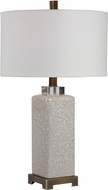 Uttermost 28346-1 Irie Crackled Taupe Table Lamp