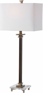 Uttermost 28349-1 Phillips Plated Antique Brass With Thick Crystal. Table Lamp Lighting
