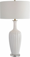 Uttermost 28374-1 Strauss White Table Lamp
