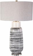 Uttermost 28378 Magellan Ivory and Rust Table Lamp Lighting