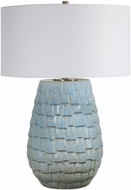 Uttermost 28379-1 Talima Blue and Ivory Table Top Lamp