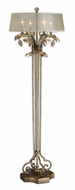 Uttermost 28412-1 Alenya Traditional 65 Inch Tall Burnished Gold Metal Floor Lamp Light