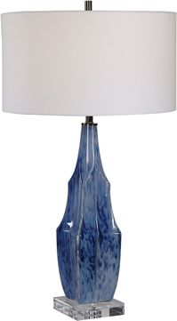 Uttermost 28425-1 Everard Blue Table Lamp