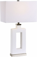 Uttermost 28426-1 Entry White Table Top Lamp