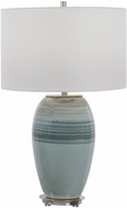 Uttermost 28437-1 Caicos Aqua and Teal blue Side Table Lamp
