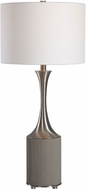 Uttermost 28447-1 Pitman Contemporary Gray Concrete and Nickel Table Lamp