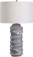 Uttermost 28467 Waves Gray Table Top Lamp
