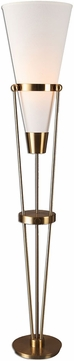 Uttermost 28892-1 Bergolo Plated Brushed Brass Torchiere Lamp