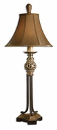 Uttermost 29091 Jenelle Traditional 36 Inch Tall Distressed Gold Leaf Antique Table Lamp