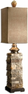 Uttermost 29093-1 Andean Modern Layered Stone Buffet Lamp