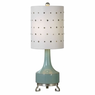 Uttermost 29204-1 Cayucos Lightly Distressed Pistachio Green Side Table Lamp