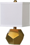 Uttermost 29228-2 Pentagon Cubes Contemporary Brushed Brass Table Lamp Lighting