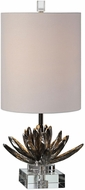 Uttermost 29256-1 Silver Lotus Silver Lotus Accent Side Table Lamp