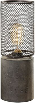 Uttermost 29398-1 Ledro Modern Charcoal Stain Table Top Lamp