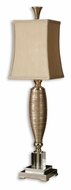 Uttermost 29479-1 Abriella Contemporary 36 Inch Tall Metallic Gold Table Light With Chrome Accents