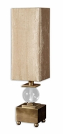 Uttermost 29491-1 Ilaria Crystal Ball Coffee Bronze Contemporary Table Lamp - 26 Inches Tall