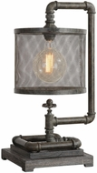 Uttermost 29555-1 Bristow Vintage Rust Bronze Side Table Lamp