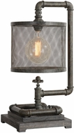Uttermost 29555-1 Bristow Chrome Buffet Table Lamp Lighting