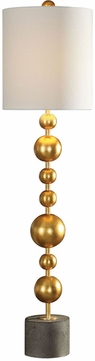 Uttermost 29566-1 Selim Contemporary Gold Buffet Buffet Table Lamp Lighting