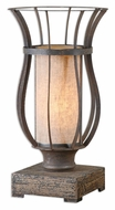 Uttermost 29573-1 Minozzo 18 Inch Tall Rustic Bronze Accent Lamp