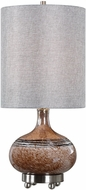 Uttermost 29610-1 Judsonia Rust Speckling with Gloss White Lighting Table Lamp