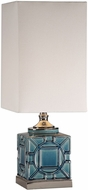 Uttermost 29632-1 Pacorro Crackled Blue Glaze Side Table Lamp