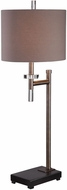 Uttermost 29661-1 Oletha Plated Oxidized Dark Bronze Buffet Side Table Lamp