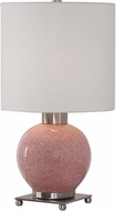 Uttermost 29667-1 Rhoda Soft Pink Buffet Lamp