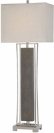 Uttermost 29678-1 Sakana Polished Nickel Plated Buffet Lighting Table Lamp