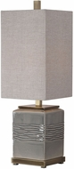 Uttermost 29680 Covey Warm Gray Glaze Buffet Table Lamp Lighting