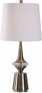 Uttermost 29681-1 Alverson Lightly Antiqued Plated Brass Table Lamp