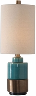 Uttermost 29685-1 Rema Bright Turquoise Glaze Table Lighting