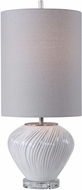 Uttermost 29743-1 Lucerne Contemporary White Buffet Lamp