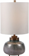 Uttermost 29780-1 Catrine Green With Rust Gray /Gold And Plated Antique Brass Buffet Lamp