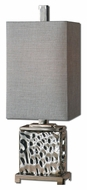 Uttermost 29927-1 Bashan Modern Nickel Plated Water Glass Lamp - 32 Inches Tall