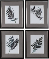 Uttermost 33687 Eucalyptus Leaves Matte Black Framed Prints (set of 4)