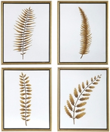 Uttermost 34422 Forest Ferns Gold Leaf Hand Painted Art (set of 4)