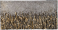 Uttermost 37001 Golden Fields Contemporary Antique Silver Leaf Metallic Art