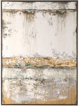 Uttermost 42520 The Wall Modern Textured Paint With Gold Leaf The Wall Abstract Art