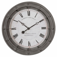 Uttermost 6092 Porthole 24 Inch Diameter Nautical Style Wall Mounted Clock