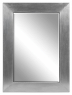 Uttermost 7060 Martel 44 Inch Tall Aluminum Wrapped Rectangular Wall Mirror