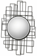 Uttermost 7625 Othello Rustic Black Metal Frame Abstract Contemporary Mirror - 41 Inches Tall