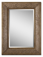 Uttermost 7633 Brooksy Henna Brown Fabric Frame Wall Mounted 47 Inch Tall Mirror