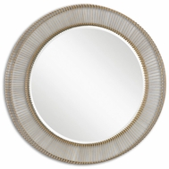 Uttermost 08125 Bricius Round Metal 39.75 Tall Wall Mounted Mirror