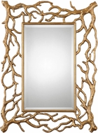 Uttermost 8131 Sequoia Antiqued Gold Leaf Gold Tree Branch Mirror