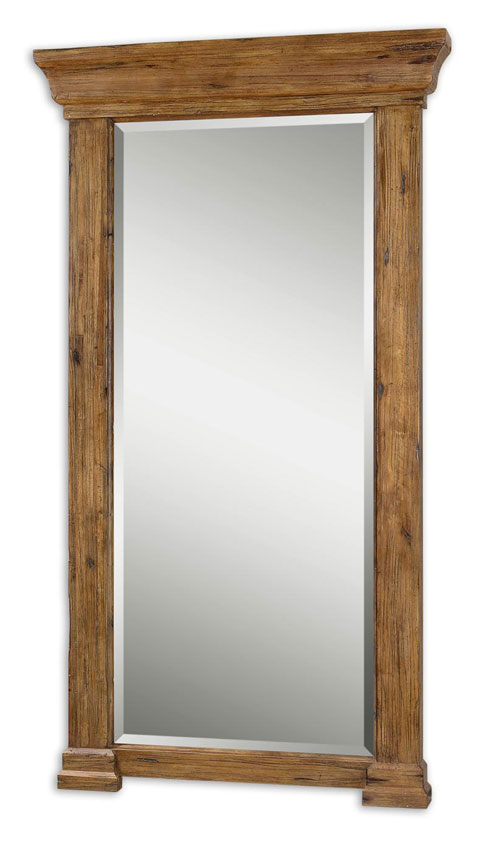 Full Length Mirror Wood Frame Intended Distressed Black Framed