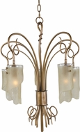 Varaluz 126C05HO Soho Contemporary Hammered Ore Mini Chandelier Light